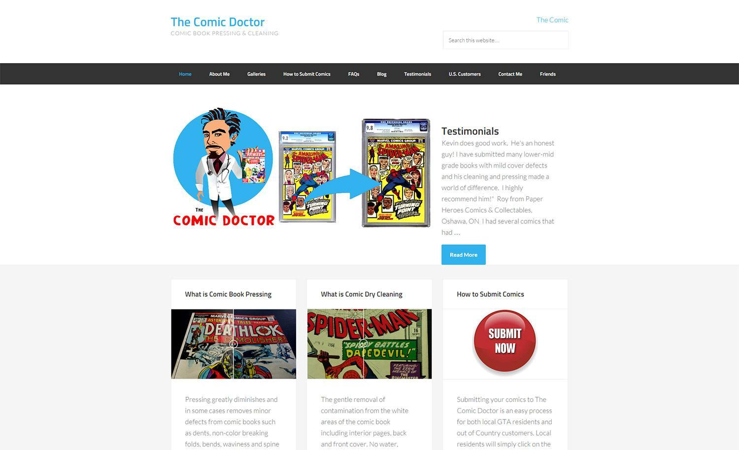 Website Design and SEO Project - Comic Doctor