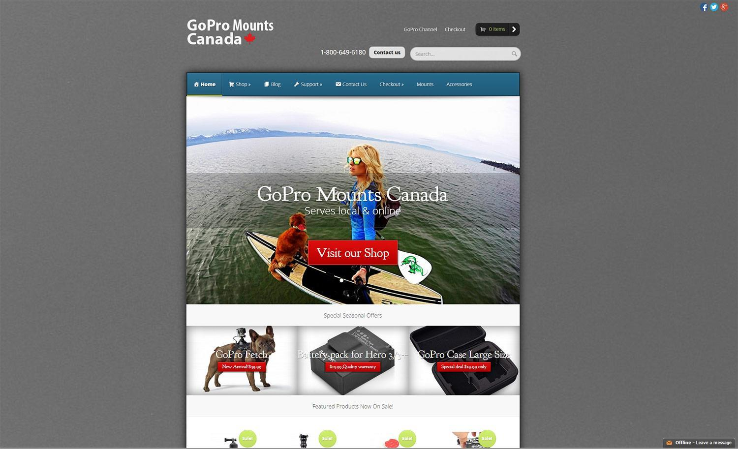Website Design - GoPro E-Store Project