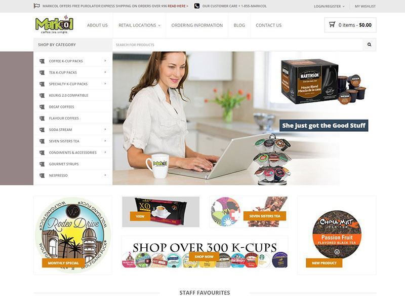 Website Design E-Store SEO - Makcol K-Cups Project