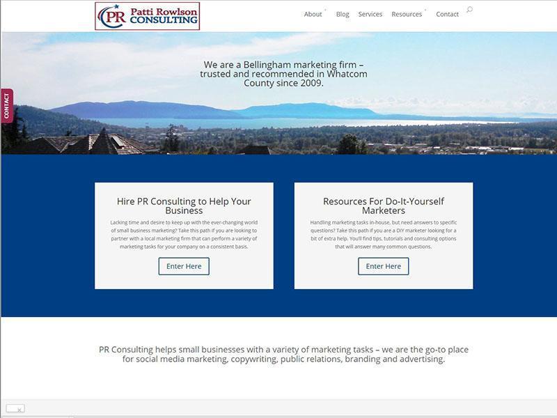 Website Design - PR Consulting Patti Rowlson Project