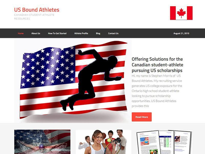 Website Design - US Bound Athlete Project