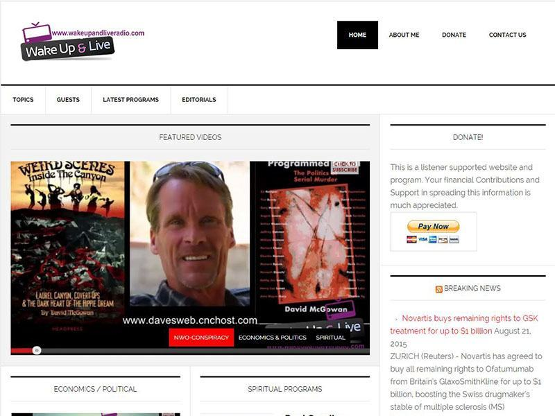 Website Design - Wakeup and Live Video Blog Project